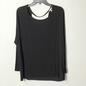 Victoria secret pink super soft black cut out tee